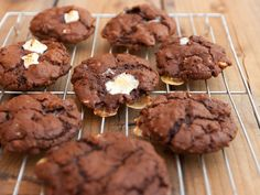 Rocky Road Cookies: chocolate cookies with pecans and marshmallows