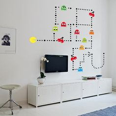2016 new Wall stickers mural Sticker kit RETRO vinyl kids games DECAL stencil BEDROOM Self-adhensive for Any Color of Wall
