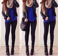 winter outfit wish I could wear with a plain black leather bag