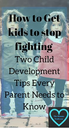 How to get kids to stop fighting / child development / http://themommyprofessor.org/how-to-get-kids-to-stop-fighting-two-child-development-tips-every-parent-needs-to-know/