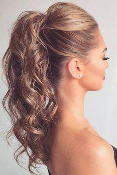 30 Exklusive Frauenfrisur mit langer Haar - My list of women's hairstyles High Ponytail Hairstyles, Prom Hairstyles For Short Hair, Prom Hair Updo, Evening Hairstyles, Latest Hairstyles, Down Hairstyles, Easy Hairstyles, Wedding Hairstyles, Formal Hairstyles