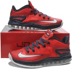 67049e2c1e1b Nike Lebron 11 xi Low Red Black White0 Lebron 11