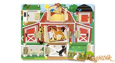Melissa & Doug Hide & Seek Farm (Developmental Toys, Magnetic Puzzle Board, Sturdy Wooden Construction, 9 Pieces, Great Gift for Girls and Boys - Best for and 5 Year Olds) Barnyard Animals, The Doors, Activity Board, Melissa & Doug, Developmental Toys, Building For Kids, Parasol, Quilted Pillow, Gifts For Girls