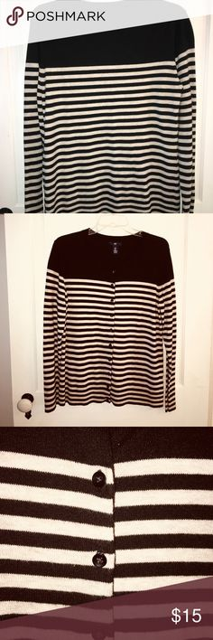 GAP cardigan, black and tan, size XL GAP Outlet cardigan, NWOT, never worn. Bought the wrong size and never returned it. GAP Sweaters Cardigans