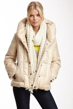 Rainforest Side Leather Buckle Puffer Coat by Non Specific on @HauteLook