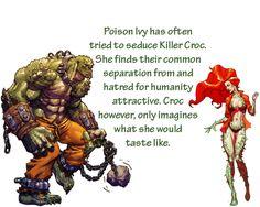 Scandal! Killer croc and poison ivy