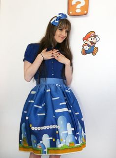 This Super Mario-inspired dress from Etsy's Corset Wonderland is world's apart from other gamer fashion: http://etsy.me/Lugbwl