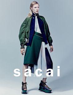 Julia Nobis by Craig McDean for Sacai Spring/Summer 2015 Campaign