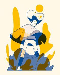 Fashion Illustration Design Aquatic on Behance - Art And Illustration, Flat Design Illustration, Illustrations And Posters, Character Illustration, Web Design, Design Art, Silkscreen, Wow Art, Art Abstrait
