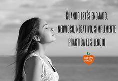 El silencio refuerza tu sistema inmunológico, reduce el estrés y te hace más feliz- Practícalo. #objetivobienestar