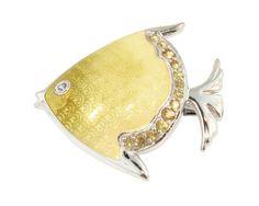 36076 - Enamel Fish Brooch - SOLD