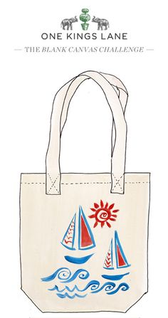 Love this tote bag design by Mariana Sain-Morar? Cast your vote for the design as part of our Blank Canvas Challenge by pinning it!