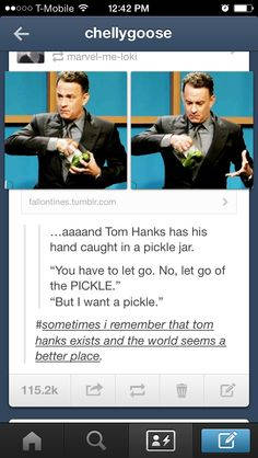 Tom hanks is my fave