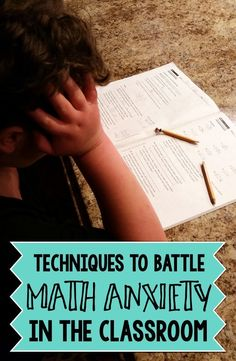 Techniques to Battle Math Anxiety in the Classroom - Wise Guys: Every year, there's always some students who struggle with math. Here's some techniques teachers can use in the classroom to help their students tackle their math anxiety and their classwork!