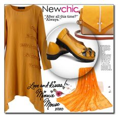 """""""Newchic 18"""" by aida-ida ❤ liked on Polyvore featuring beauty, Disney and plus size dresses"""