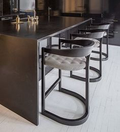 Mid-Century Bar Chairs Meet Modern Lighting Pieces You'll Love Welded Furniture, Iron Furniture, Steel Furniture, Modern Furniture, Furniture Design, Furniture Ideas, Furniture Stores, Kitchen Furniture, Rustic Furniture