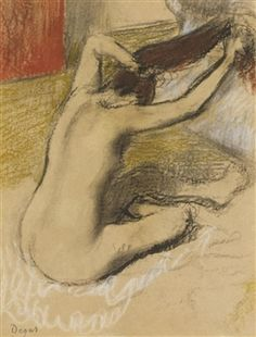 Femme Se Peignant By Edgar Degas ,1992