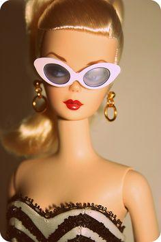 Debut Barbie Silkstone wearing her sunglasses