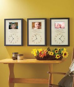 The Moment You Were Born...lovely idea if not for a wall piece then for a scrapbook page