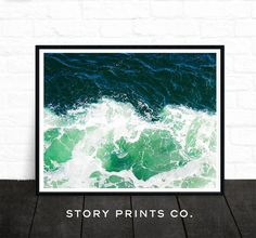 Ocean Photo, Sea Art, Ocean Waves Photography, Water Photography, Beach Print…