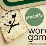 Printable word games