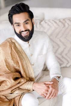 Groom in Gold and Cream Wedding Suit | By Zehra Jagani | Pakistani Nikah Wedding Ceremony | Blush Wedding Dress | Gold Wedding Jewellery | Rustic Wedding Decor | Nikah Ceremony, Wedding Ceremony, Wedding Decor, Rustic Wedding, Wedding Suits, Wedding Dresses, Morning Suits, Modern Color Palette, Gold Wedding Jewelry