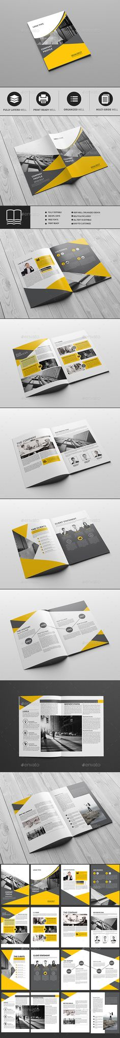 Corporate Business Brochure Template InDesign INDD