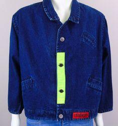 8b54585d4d VTG GOTCHA Denim Jean Jacket Streetwear Fashion Sz S What Do You Want  Permission  Gotcha