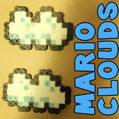 How to Make the Clouds from Super Mario Bros with Perler Beads