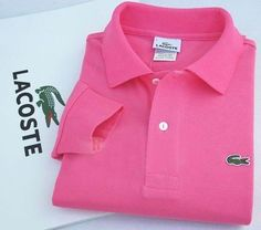 Lacoste Long Sleeve Classic Polo Shirts in Rose $32.19