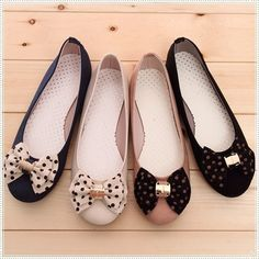 BN Womens Comfy Casual Polka Bowed Walking Ballet Flats Ballerinas Shoes Loafers in Clothing, Shoes & Accessories | eBay