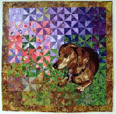 Dachshund Quilt a  by Doxie Crafts, via Flickr