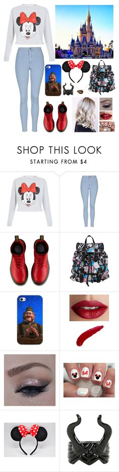 """""""I want to go to Disney World again"""" by blessed-with-beauty-and-rage ❤ liked on Polyvore featuring Topshop, Dr. Martens, Disney, TheBalm, women's clothing, women, female, woman, misses and juniors"""