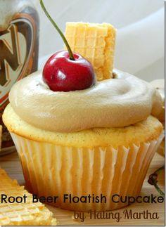 Banana Cream Pie Cupcake AND Rootbeer Float-ish Cupcake