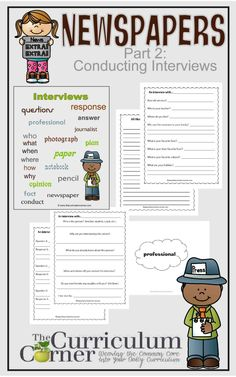 Newspapers in the Classroom Part 2:  Conducting Interviews Free from The Curriculum Corner