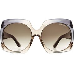The directional drama of these Tom Ford sunglasses is tempered by the transparent frame. We love them as an effortless way of adding statement to simple looks Fendi, Gucci, Tom Ford Glasses, Glasses Logo, Wooden Sunglasses, Sunglasses Women, Ysl, Tom Ford Eyewear, Oversized Glasses