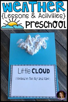 Are you looking for a fun, hands-on and engaging weather unit for your preschool classroom? Check out our weather unit. This unit has book suggestions, large group, small group, centers and independent weather activities.