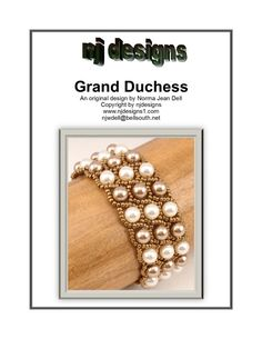 Choose your favorite colors to make this two tone pearl bracelet!! This is a downloadable pdf instruction packet for Grand Duchess bracelet. My instructions are easy to follow with lots of photos for those of us who are visual learners. This packet includes 7 pages of detailed step by