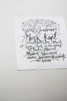 Hand Painted / Lettered -