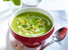 Unser beliebtes Rezept für Leichte Erbsencreme-Suppe mit Schinken und mehr als 55.000 weitere kostenlose Rezepte auf LECKER.de.