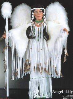 ANGEL LILY NATIVE AMERICAN INDIAN PORCELAIN TIMELESS DOLL NEW