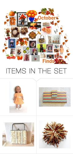 """""""October Finds"""" by patchworkcrafters ❤ liked on Polyvore featuring art and celebrationtimes"""
