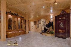 Log Home By Golden Eagle Log Homes - Lower Level