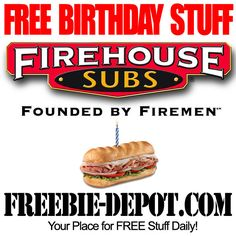 FREE Birthday Sub Sandwich Free On Your Birthday, Free Birthday Food, Birthday Rewards, Birthday Freebies, First Birthday Party Themes, It's Your Birthday, Birthday Stuff, Birthday Ideas, Firehouse Subs