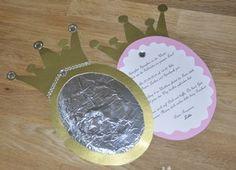 Einladung zum Kindergeburtstag Prinzessin selber basteln. Spieglein Spieglein an der Wand, wer ist die schönste im ganzen Land.