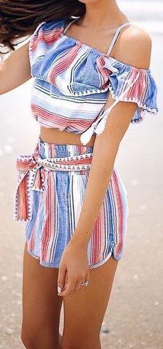 2PC  ~ stripes ...summer dressing !!