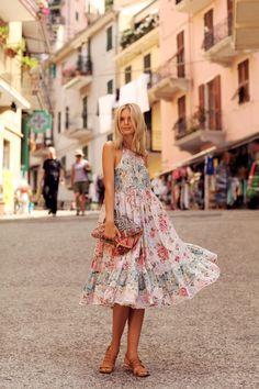 Zimmermann dress, Antik Batik clutch, Sol Sana sandals // Tuula