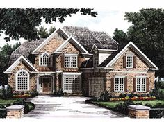 New American House Plan with 2764 Square Feet and 4 Bedrooms(s) from Dream Home Source | House Plan Code DHSW09318