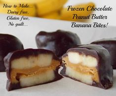 Mystery Lovers' Kitchen: How to make Frozen Chocolate Peanut Butter Banana Bites #dairyfree #glutenfree by Cleo Coyle