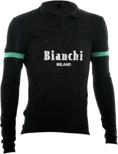 Bianchi-Milano Camastra Black Long Sleeve Wool Jersey. Cycling WearCycling  OutfitsWinter ... c35f2ef6e